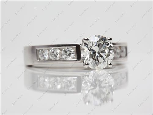 Platinum  Channel Set Diamonds