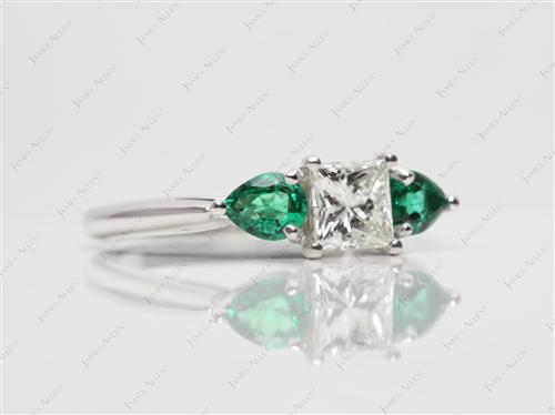 White Gold  Gem Stone Rings