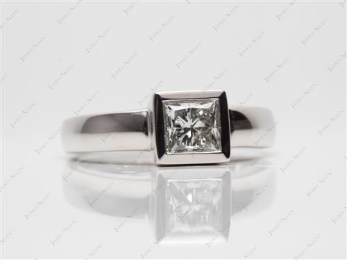 Platinum  Tension Set Ring