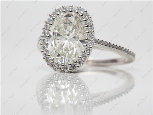 Platinum  Micropave Rings