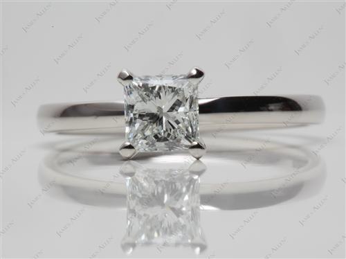 Platinum  Solitaire Ring Setting