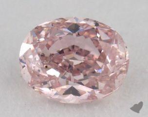 oval0.68 Carat fancy pink
