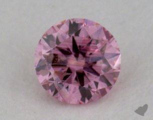 round0.19 Carat fancy intense purplish pink