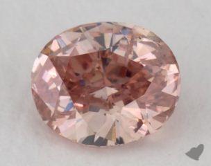 oval0.43 Carat fancy intense pink