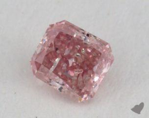 radiant0.17 Carat fancy intense pink