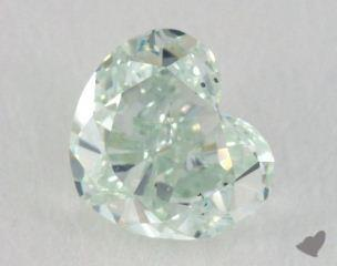 heart0.51 Carat fancy blueish greenSI1