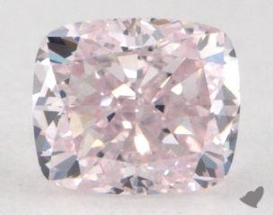 cushion0.51 Carat fancy purplish purpleSI1