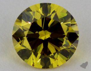 round1.05 Carat fancy deep yellow SI1