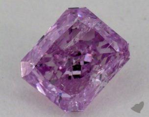 radiant0.35 Carat fancy intense purplish pinkSI3