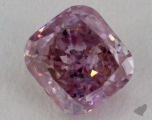 radiant0.32 Carat fancy purplish pink