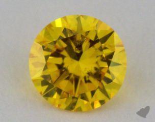 round0.52 Carat fancy vivid yellow