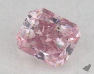 radiant0.24 Carat fancy intense pink