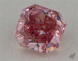 radiant0.28 Carat fancy intense pink