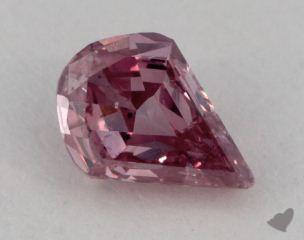 pear0.21 Carat fancy intense pink