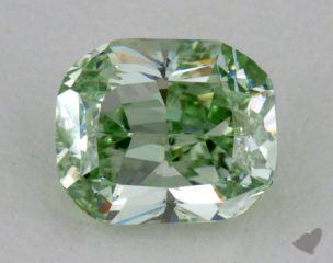 cushion0.52 Carat fancy intense greenSI1