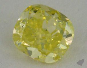 cushion0.71 Carat fancy intense greenish yellow