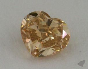 heart0.73 Carat fancy brownish yellow