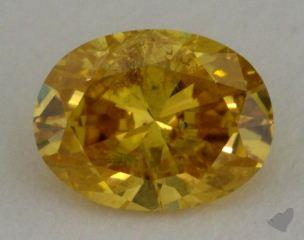 oval0.60 Carat fancy intense orange yellow