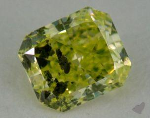 radiant0.29 Carat fancy intense yellowish green