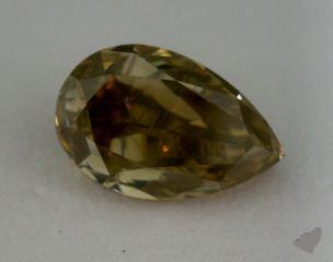 pear1.70 Carat fancy brownish yellow