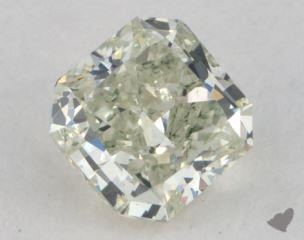radiant0.53 Carat fancy light yellowish green