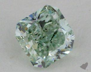 radiant0.48 Carat fancy intense brownish green