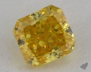radiant0.71 Carat fancy vivid orange yellow