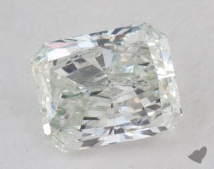 radiant0.61 Carat very light green