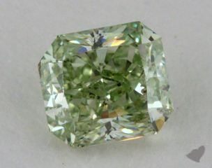 radiant0.70 Carat fancy intense green