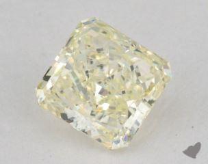 radiant0.72 Carat fancy light greenish yellow