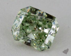 radiant1.13 Carat fancy intense green