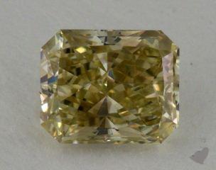 radiant1.16 Carat fancy greenish greenish yellow