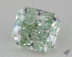 radiant1.15 Carat fancy greenSI1