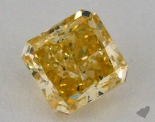 radiant1.51 Carat fancy intense yellow