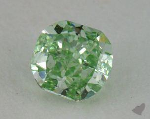 cushion0.72 Carat fancy vivid greenVS2