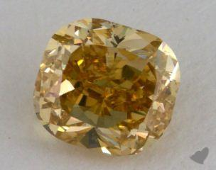 cushion1.47 Carat fancy brownish yellowSI1