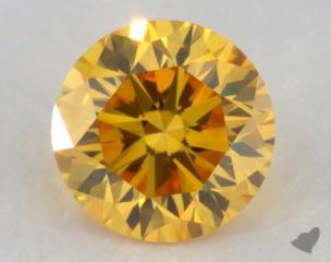 round0.35 Carat fancy vivid yellow