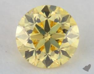 round0.24 Carat fancy intense yellow