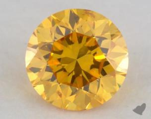 round0.31 Carat fancy vivid orange yellow