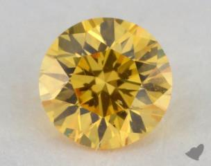 round0.30 Carat fancy vivid yellow