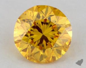round0.40 Carat fancy vivid orange yellow