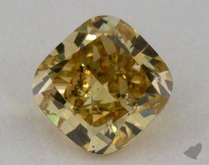 cushion1.02 Carat fancy deep brownish yellow