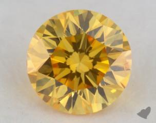 round0.32 Carat fancy vivid yellow