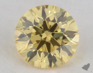 round0.25 Carat fancy intense yellow