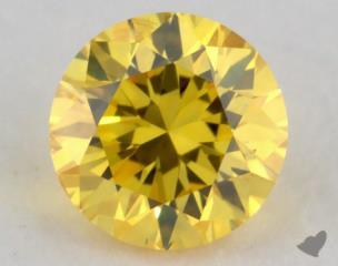 round0.22 Carat fancy vivid yellow