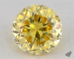 round0.18 Carat fancy vivid yellow