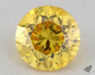 round0.20 Carat fancy vivid yellow