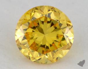 round0.21 Carat fancy vivid yellow