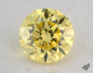 round0.20 Carat fancy intense yellow