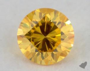 round0.31 Carat fancy vivid yellow